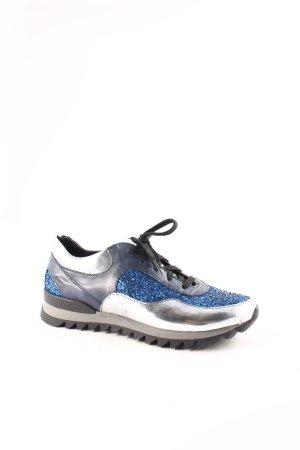 Sneaker stringata multicolore con glitter