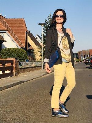 Karl Lagerfeld Schnürsneaker mehrfarbig Glitzer-Optik Leder