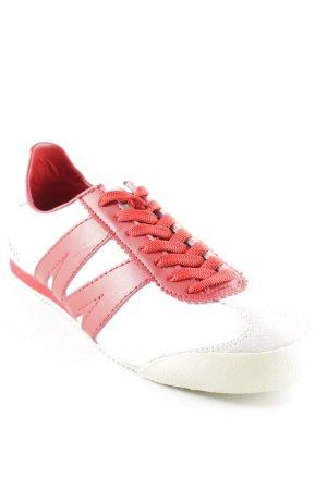 Schnürsneaker rot-weiß sportlicher Stil