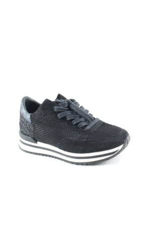 Lace-Up Sneaker black extravagant style
