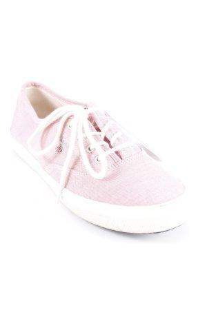 Schnürsneaker wollweiß-rosa Casual-Look