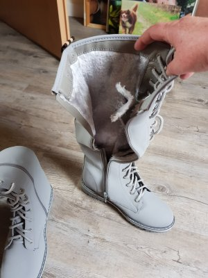 Lace-up Boots light grey