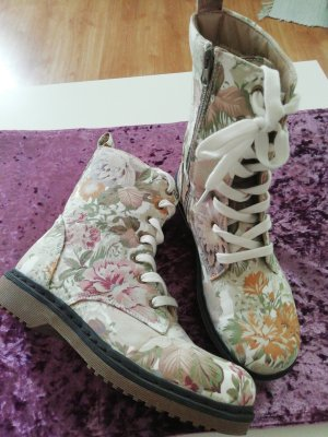 Amisu Lace-up Booties multicolored