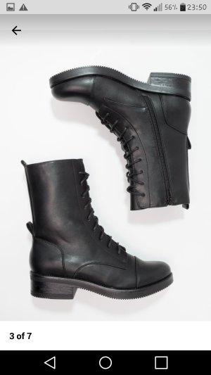 Even & Odd Bottes à lacets noir