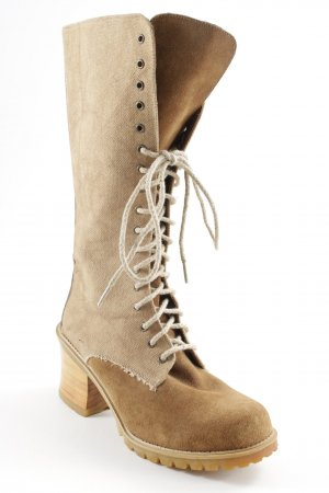 Lace-up Boots beige-light brown second hand look