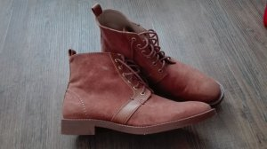 Zara Bottines à lacets marron clair-brun