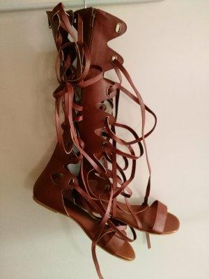 Bottes à lacets brun