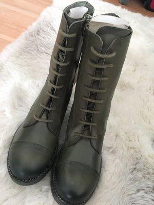 Lace-up Boots khaki-green