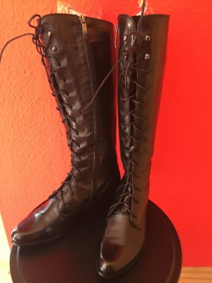 Lace-up Boots black leather