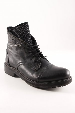 Lace-up Boots black casual look