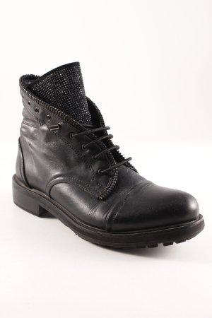 Botas con cordones negro look casual