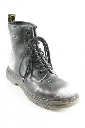 Lace-up Boots black-white color gradient urban style