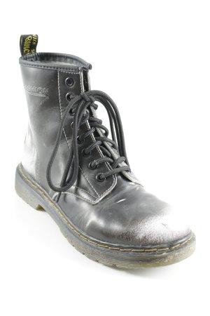 Botas con cordones negro-blanco degradado de color estilo urbano