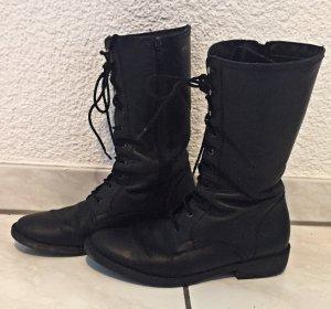 Tamaris Bottes à lacets noir