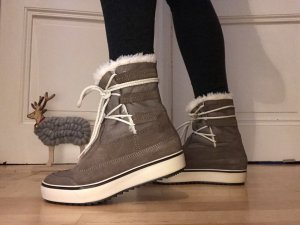 Marc O'Polo Winter Booties grey brown leather