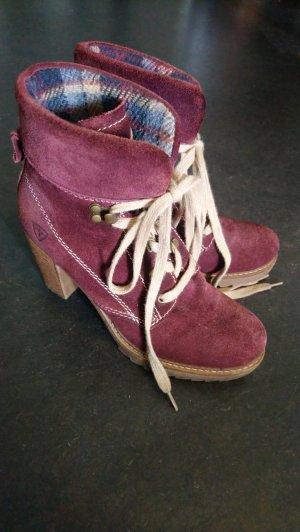 Tamaris Bottines à lacets multicolore cuir