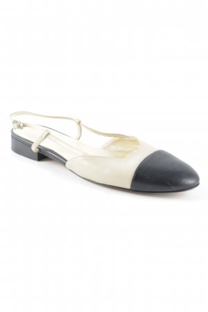 Scho Shoes Milano Slingback Ballerinas cream-black classic style