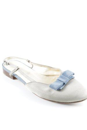 Scho Shoes Milano Ballerine à bride arrière bleuet-beige style décontracté