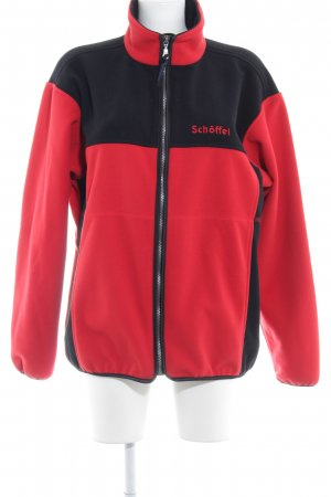 Schöffel Fleecejacke rot-schwarz sportlicher Stil