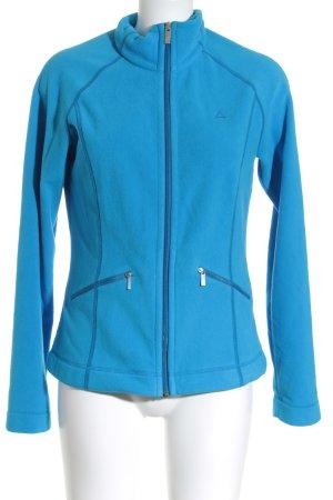 Schöffel Fleecepullover stahlblau-neonblau sportlicher Stil