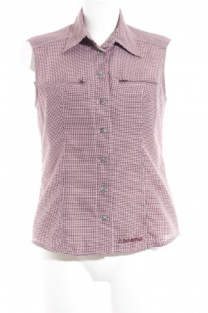 Schöffel Blusa-camisa rosa-púrpura estampado de cuadros guinga look casual