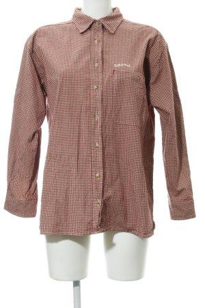 Schöffel Camisa de leñador crema-rojo oscuro estampado de pata de gallo