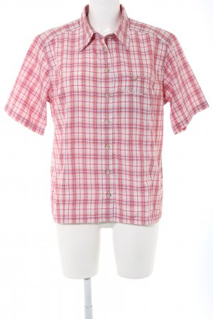 Schöffel Short Sleeve Shirt white-red check pattern business style