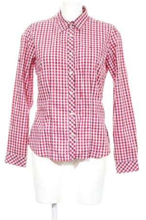 Schöffel Camisa de manga larga rojo-blanco look casual