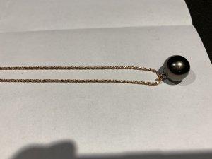 Schöffel Collana di perle color oro rosa-antracite