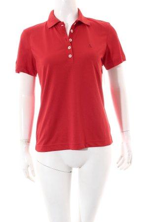 Schöffel Polo-Shirt rot sportlicher Stil