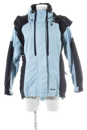 Schöffel Regenjacke neonblau-schwarz sportlicher Stil