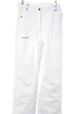 Schöffel Sneeuwbroek wit atletische stijl
