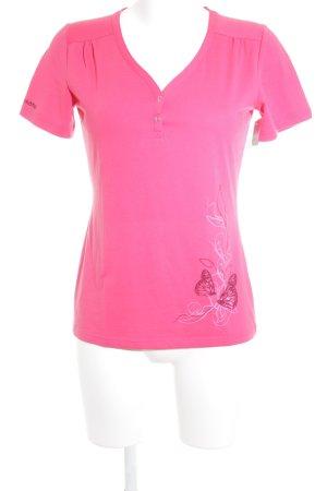 Schöffel T-Shirt violett sportlicher Stil