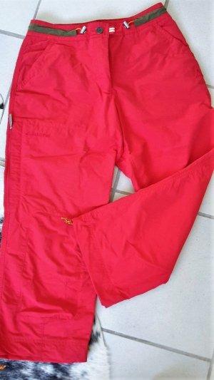 SCHÖFFEL Wanderhose * Trekkinghose * 3/4 * Leuchtend Rot * TOP Zustand