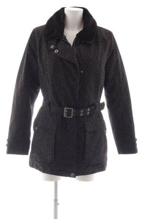 Schöffel Abrigo de invierno negro-gris estampado gráfico look casual