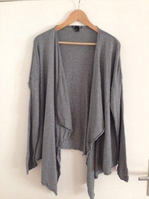 H&M Giacca in maglia grigio