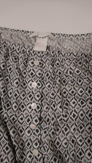H&M Carmen Shirt white-black