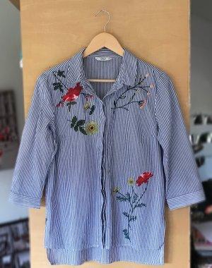 Only Chemise à manches longues bleu acier-blanc