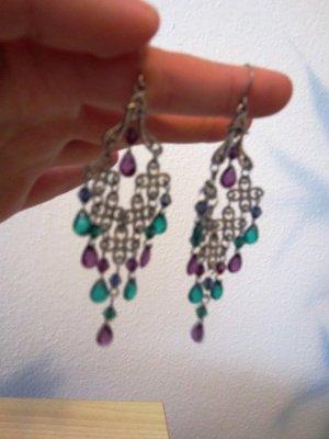 Schön grün violette Ohrhänger