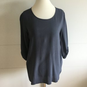 Schön schlicht: dunkelgraues Blusenshirt mit 3/4 Ärmeln