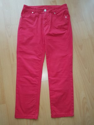 1.2.3 Paris 3/4 Length Trousers red-brick red cotton