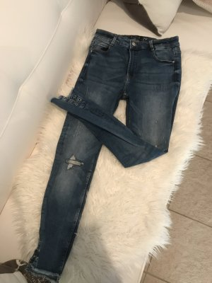 Amisu 7/8 Length Jeans steel blue cotton