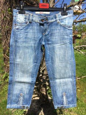 Be only 7/8-broek korenblauw-staalblauw Katoen