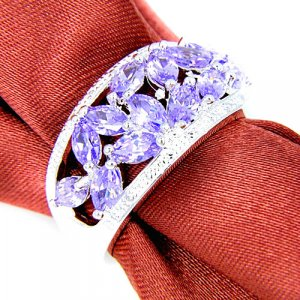 Silver Ring lilac-silver-colored real silver
