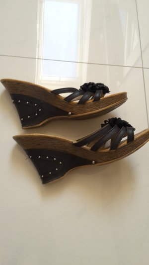 Heel Pantolettes black-light brown