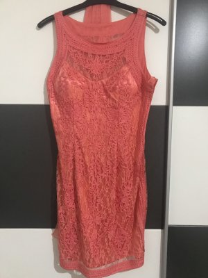 Niente Ball Dress bright red-salmon polyester
