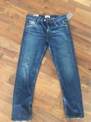 Anthropologie Jeans a gamba dritta blu scuro