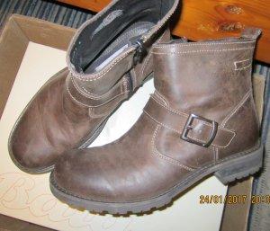 Bata Biker Boots brown leather