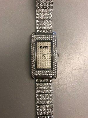 schöne Armbanduhr mit Steinen besetzt neuwertig