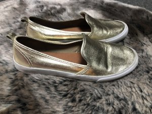H&M Patent Leather Ballerinas gold-colored